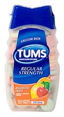 TUMS, ASSORTED FLAVORS 150/BOTTLE