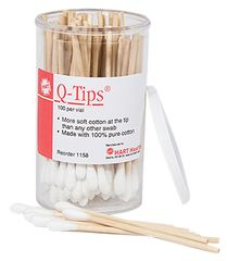 "Q-TIPS, 3"", SINGLE-TIP, 100/VIAL"
