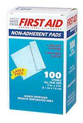 "NON-ADHERENT PAD, STERILE, 2X3"", 100/BOX"
