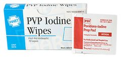 PVP IODINE WIPES, HART, 10/UNIT