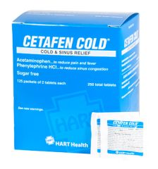 CETAFEN COLD AND SINUS TABLET 125/2'S BOX