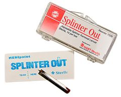 SPLINTER OUT, STERILE, DISPOSABLE, 2/PACK