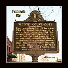 HIstoric Marker: #1027 Second Courthouse, Paducah, KY