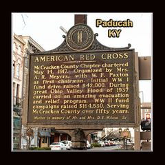 Historic Marker: #1107-1 American Red Cross, Paducah, KY