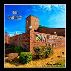 Set of 4 Refrigerator Magnets: Mid-Continent University 2014