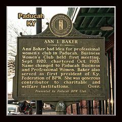 Historic Marker: #2137-2 Ann L. Baker, Paducah, KY