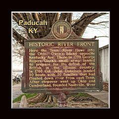 Historic Marker: #1065-1 Historic River Front Paducah, KY