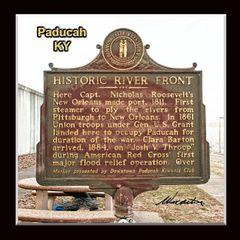 Historic Marker: #1065-2 Historic River Front Paducah, KY