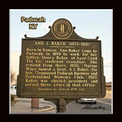 Historic Marker: #2137-1 Ann L. Baker, Paducah, KY