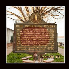 Historic Marker: #1161-1 Ride Around the Rivers, Paducah, KY