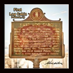 Historic Marker: #1052-1 First Log Cabin Paducah, KY