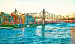 East River, Queens, Queensbury Bridge New York City NY