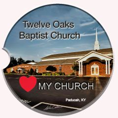 Car Cup Holder Coaster -Twelve Oaks Baptist Church Paducah, KY