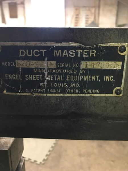 Used Engle 3 X 8 Duct Master Slitter Notcher New And