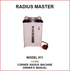PEXTO RADIUS MASTER 911 OWNER'S MANUAL