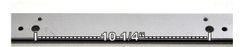 12613 Wilder T-Handle Backgauge Bar for Models 1624/1424 - Old Style Backgauge