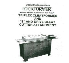 Lockformer Triplex Parts booklet
