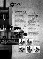 Thor Turret Punch Model 2018 Instruction Manual