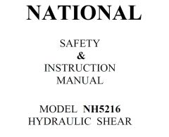NATIONAL SAFETY & INSTRUCTION MANUAL MODEL NH5216