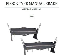 Birmingham Operation Parts Booklet Floor Brakes