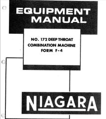 NIAGARA INSTRUCTIONS PARTS LIST BOOK MDL 172