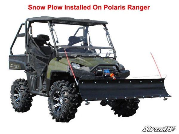 Side By Side Atv >> Polaris Ranger Fullsize Snow Plow Complete Kit