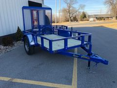 5' x 8' Single Axle w/ 4' Gate