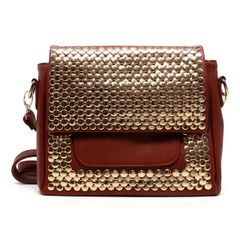 Gold Studded Shoulder Handbag