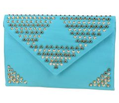 Unique Studded Envelope Clutch