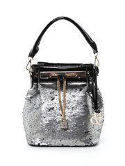 Sequin Drawstring Hobo Bag