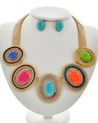 Matte Acrylic Necklace Set