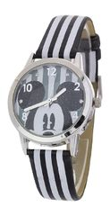 Disney's Stripe Print Mickey Mouse Fashion Watch