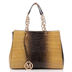 Croc Chain Top Handle Tote