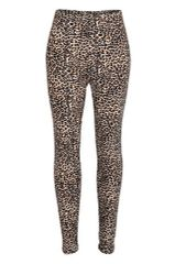 Leopard Print Peach Skin Leggings