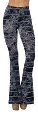 Navy Blue Tie Dye Flare Pants