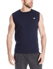 Champion Men's Jersey Muscle T-Shirt,Navy,X-Large
