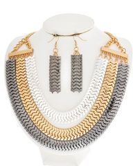 Tri-Tone Necklace set