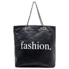 Black Fashion Shopper Tote