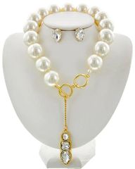 Pearl & Clear Glass Necklace