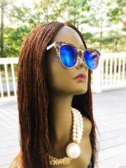 Women's Handmade Micro Twist Lace Front Wig Color 30, 22 Inches