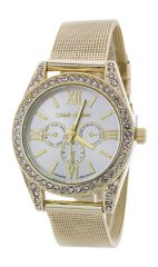Crystal Bezel Fashion Chrono Watch