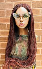 Handmade Cornrow Box Braided Wig Color 33/35 Mix, 38 Inches