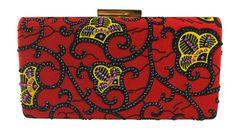 Handmade Rhinestone Ankara Print Clutch Bag, OGECHI
