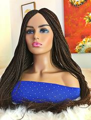 Handmade Box Braided Wig Color 33/30 Mix, 33 Inches