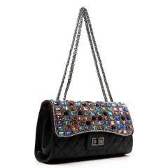 Black Gemstone Shoulder Bag
