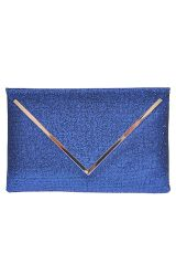 Women's Oversize Royal Blue Sparkling Envelope Clutch