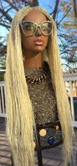 Semi Million Braid Twist Wig Color Blonde 613, 34 Inches