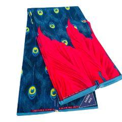 Ankara Print Fabric 6 Yards, Blue Multi