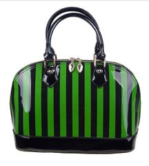 Green Stripe Candy Handbag