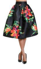 Soft Floral Printed Midi Pleated Skirt